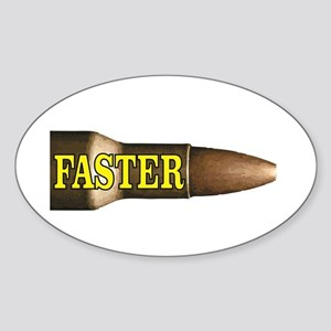 yellow faster bullet Sticker