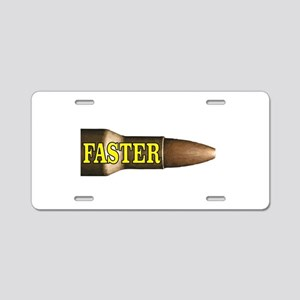 yellow faster bullet Aluminum License Plate
