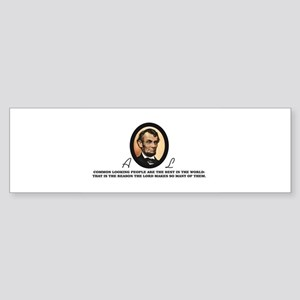 a good quote from abe Bumper Sticker