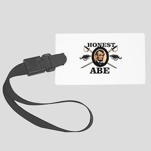 honest abe cannon Large Luggage Tag