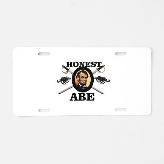 honest abe cannon Aluminum License Plate