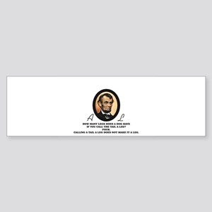 another good quote from abe Bumper Sticker