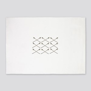 cris cross of swords 5'x7'Area Rug