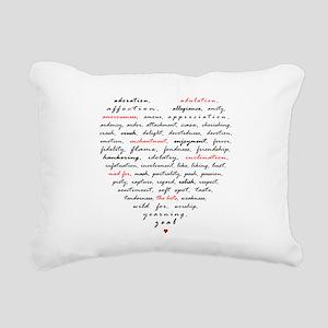 Words of Love Rectangular Canvas Pillow