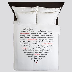 Words of Love Queen Duvet