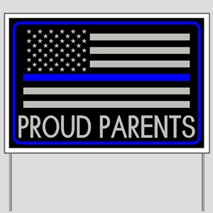 Police: Proud Parents (American Flag) Yard Sign