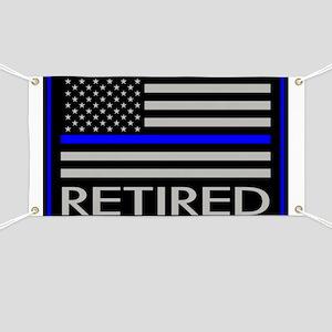 Police: Retired (American Flag) Banner