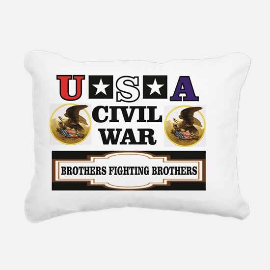Funny Fighting eagle Rectangular Canvas Pillow