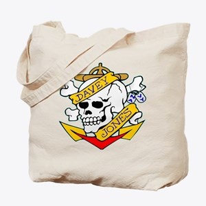 Davy Jones Locker Skull Tote Bag