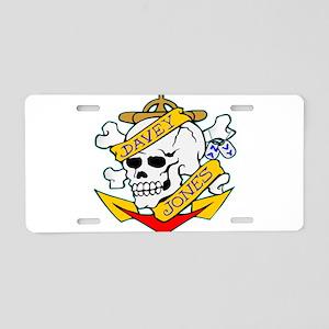 Davy Jones Locker Skull Aluminum License Plate