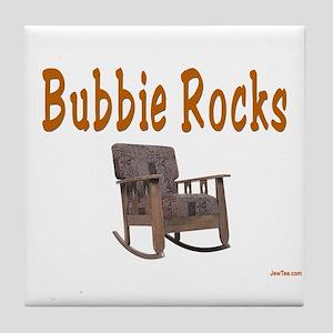 YIDDISH BUBBIE ROCKS Tile Coaster