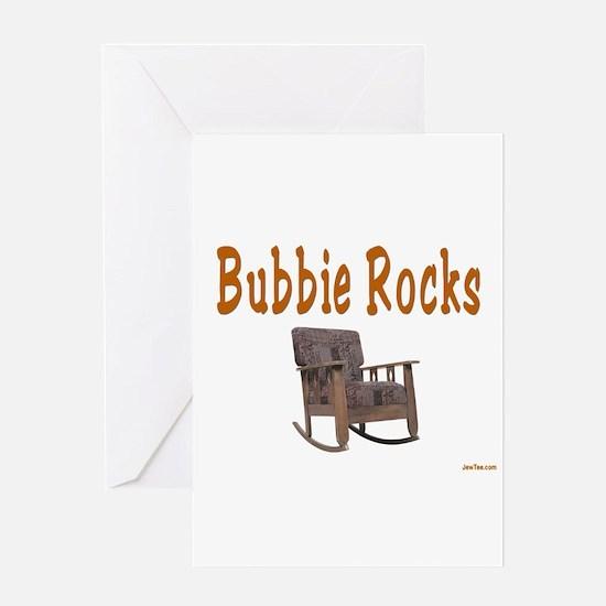 YIDDISH BUBBIE ROCKS Greeting Card