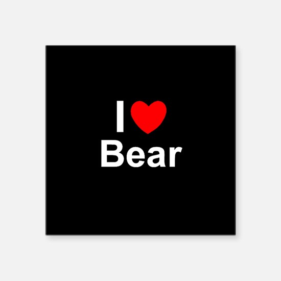 "Bear Square Sticker 3"" x 3"""