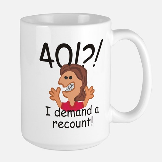 Recount 40th Birthday Red Mugs