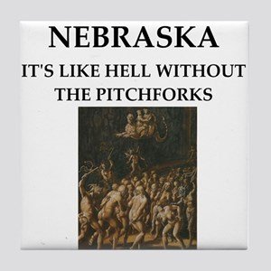 nebraska Tile Coaster
