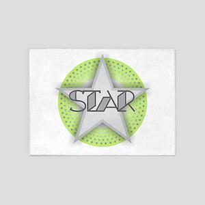 STAR - Green 5'x7'Area Rug