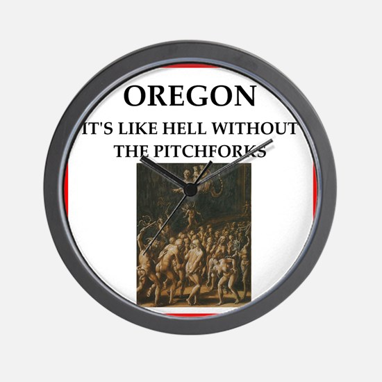 I hate this state Wall Clock