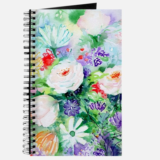 Watercolor Good Mood Flowers Journal