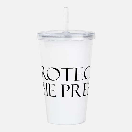 Protect the Press Acrylic Double-wall Tumbler