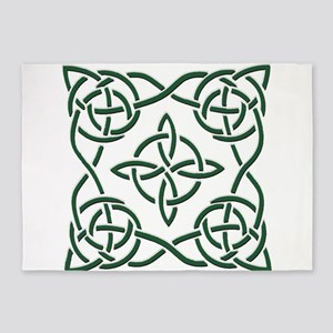 Mossy Celtic Square 5'x7'Area Rug
