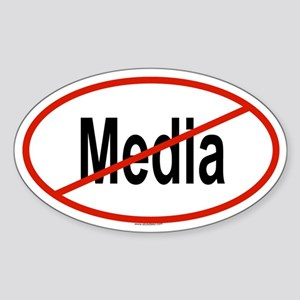 MEDIA Oval Sticker