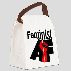 Feminist AF Red Black Canvas Lunch Bag