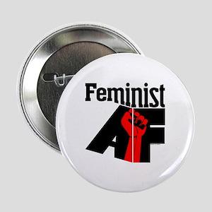 """Feminist AF Red Black 2.25"""" Button"""