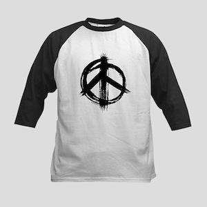 Peace sign - black Baseball Jersey