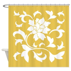 Yellow Mustard Shower Curtains