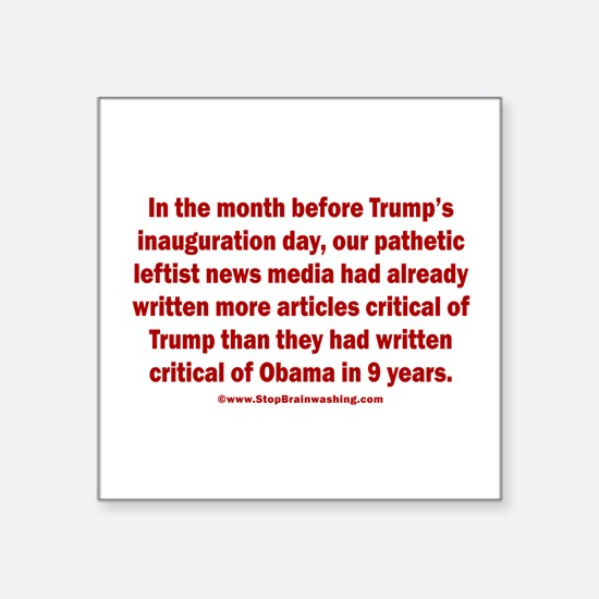 Fake News Media Square Sticker 3