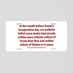 Fake News Media Aluminum License Plate