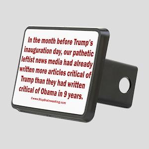 Fake News Media Rectangular Hitch Cover