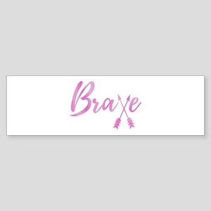 Brave Breast Cancer Awareness Arrow Bumper Sticker