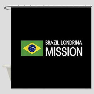 Brazil, Londrina Mission (Flag) Shower Curtain