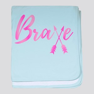 Brave Breast Cancer Awareness Arrows baby blanket