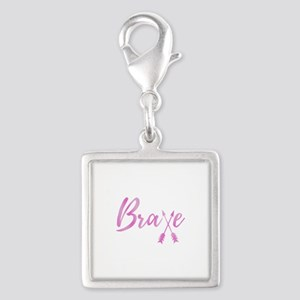 Brave Breast Cancer Awareness Arrows Charms