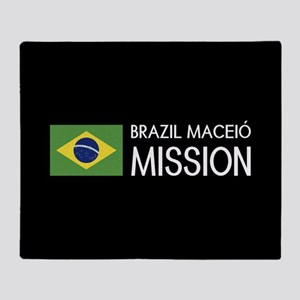 Brazil, Maceió Mission (Flag) Throw Blanket