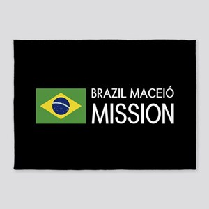Brazil, Maceió Mission (Flag) 5'x7'Area Rug