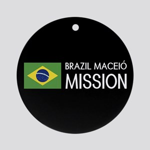 Brazil, Maceió Mission (Flag) Round Ornament