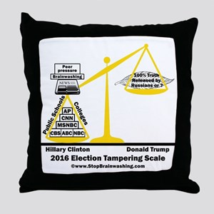 Actual Election Tampering Throw Pillow