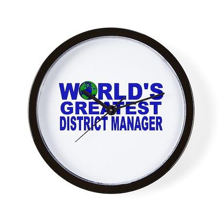 World's Greatest District Man Wall Clock