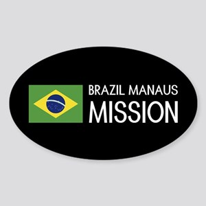 Brazil, Manaus Mission (Flag) Sticker (Oval)