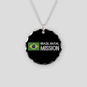Brazil, Natal Mission (Flag) Necklace Circle Charm