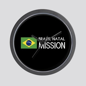 Brazil, Natal Mission (Flag) Wall Clock