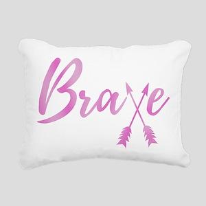 Brave Breast Cancer Awar Rectangular Canvas Pillow