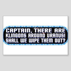 ST: Klingon Sticker