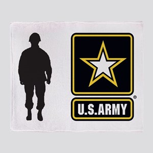 Usarmy Gold Star Ys Throw Blanket