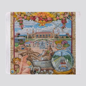 Jones Beach Love Story Throw Blanket