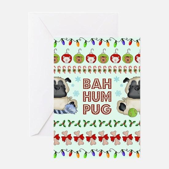 BAH HUM PUG Greeting Cards