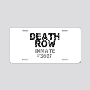 DEATH ROW INMATE Aluminum License Plate